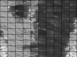 """1'08"""" Composer des visages avec des nuages : point de vue. Musique : automate Elise."""